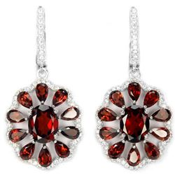 NATURAL DARK ORANGE RED GARNET Earrings