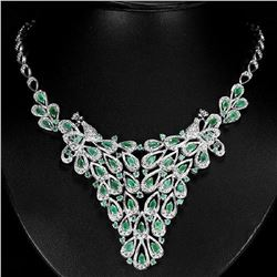 NATURAL COLUMBIAN EMERALD NECKLACE