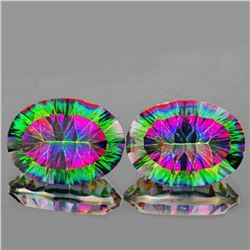 Natural Rainbow mystic Topaz Pair 29.25 cts - Flawless