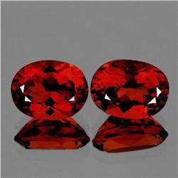 Natural AAA Madeira Red Orange Citrine Pair - FL