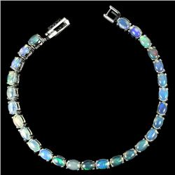 NATURAL AAA MULTI COLOR WHITE OPAL OVAL Bracelet
