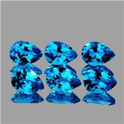Natural  Swiss Blue Topaz 7x5 MM - VVS
