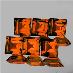 Natural Mandarin Orange Spessartite Garnet 6 Pcs