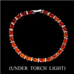 Natural 6x4 MM Orange Fire Opal Bracelet