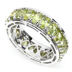 Natural 5x3mm Top Rich Green Peridot Ring