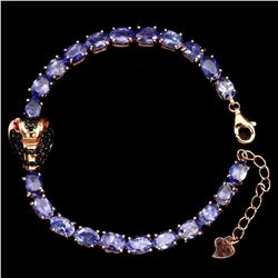 Natural Tanzanite & Black Spinel Cobra Bracelet