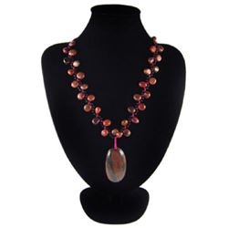 Natural Diamond Polished Multi-Color Picasso Necklace
