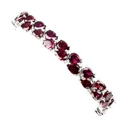 Natural Pink Raspberry Rhodolite Garnet 162 Ct Bracelet