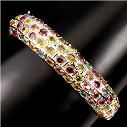 Natural Top Fancy Color Sapphire Bangle