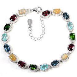 Natural OPAL RHODOLITE TOPAZ CHROME DIOPSIDE Bracelet