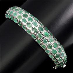 Natural Top Rich Green Emerald 113.45 Ct Bangle