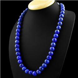 STUNNING NATURAL BLUE LAPIS LUZULI NECKLACE
