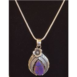 GORGEOUS 7.75 CT ARIZONA LAVENDER TURQUOISE PENDANT .