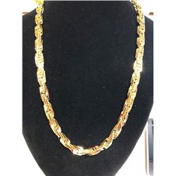 HUGE 77.8 GRAM 14 KT GOLD PLATED ROPE CHAIN