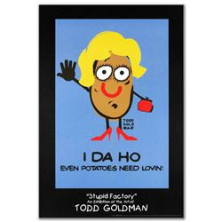 """I-DA-HO"" Fine Art Litho Poster (24"" x 36"") by Renowned Pop Artist Todd Goldman."