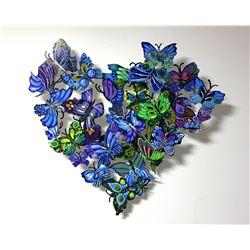 "Patricia Govezensky- Original Painting on Cutout Steel ""Amour"""