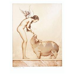 """Michael Parkes """"An Angel's Touch"""" Original Hand Pulled Stone Lithographs"""