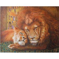 """Vera V. Goncharenko- Original Oil on Canvas """"Lovers"""""""