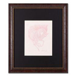 """Guillaume Azoulay - """"Essai AG"""" Framed Original Drawing, Hand Signed with Certificate of Authenticity"""