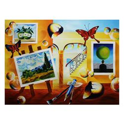 "Alexander Astahov- Original Oil on Canvas ""Painting My Dream"""