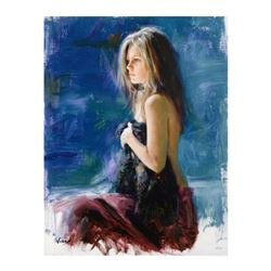 """Vidan - """"All Alone"""" Limited Edition on Canvas, Numbered and Hand Signed with Certificate."""