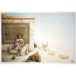 """Michael Parkes """"The Mask"""" Original Hand Pulled Stone Lithographs"""