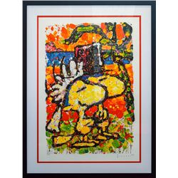 """Tom Everhart- Lithograph """"Hitched"""""""