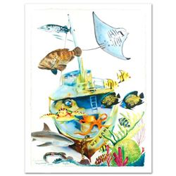 """""""Wy Land"""" Limited Edition Giclee on Canvas (29.5"""" x 41.5"""") by Wyland, Numbered and Hand Signed by Wy"""