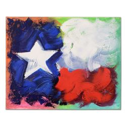 """KAT - """"Texas Love"""" Original Acrylic Painting on Gallery Wrapped Canvas, Hand Signed with Certificate"""