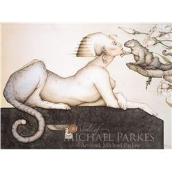"""Michael Parkes """"The Sphinx"""" Original Hand Pulled Stone Lithographs"""