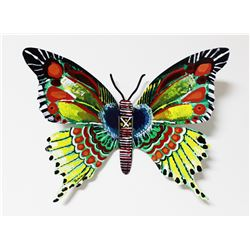 """Patricia Govezensky- Original Painting on Cutout Steel """"Butterfly CXII"""""""