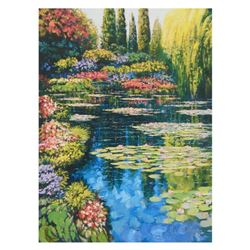 "Howard Behrens (1933-2014), ""Shimmering Waters Of Giverny"" Limited Edition on Canvas, Numbered and S"