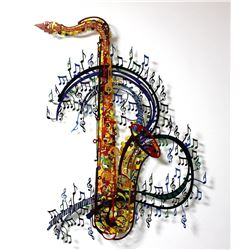 "Patricia Govezensky- Original Painting on Cutout Steel ""Orchestra"""