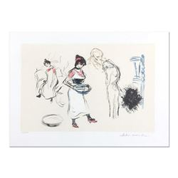 "Pablo Picasso (1881-1973) - ""Etude de Personnages"" Original Lithograph, Limited to 500 Pieces and Ha"