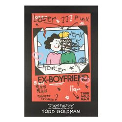"""Ex-Boyfriend"" Fine Art Litho Poster Hand Signed by Renowned Pop Artist Todd Goldman."