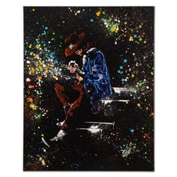 "KAT - ""Stevie on the Strings"" Original Acrylic Painting on Gallery Wrapped Canvas, Hand Signed with"