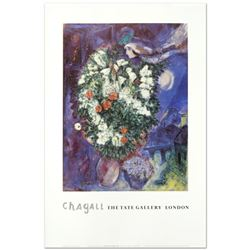 "Marc Chagall (1887-1985) - ""Bouquet with Flying Lover"" Fine Art Poster!"