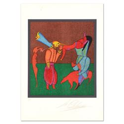"Mihail Chemiakin - Carnival Series: ""Untitled 2"" Limited Edition Lithograph, Numbered Hand Signed wi"