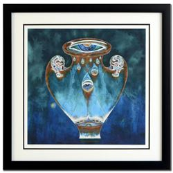 "Lu Hong, ""Aquarius (1/21 - 2/19)"" Framed Limited Edition Giclee, Numbered and Hand Signed with COA."