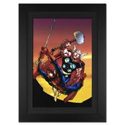 """Marvel Age Spider-Man Team Up #4"" Extremely Limited Edition Giclee on Canvas (29"" x 40"") by Randy G"