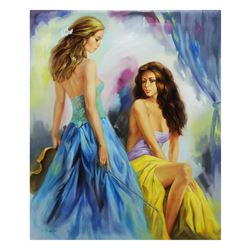 "Taras Sidan- Original Oil on Canvas ""Best Friends"""