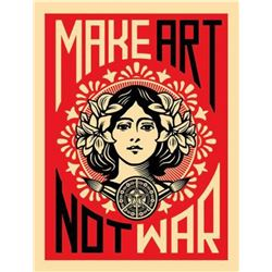 "Shepard Fairey ""Make Art Not War"""