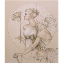 "Michael Parkes ""Royal Cheetah"" Masterworks on Vellum"
