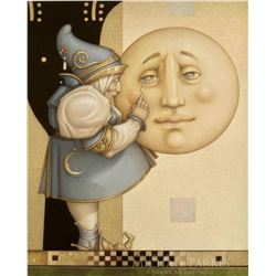 "Michael Parkes ""Moon Minders Full Moon"" Masterworks on Canvas"