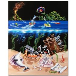 """Sand Bar 2"" Limited Edition Hand-Embellished Giclee on Canvas (28"" x 35"") by Michael Godard, AP Num"