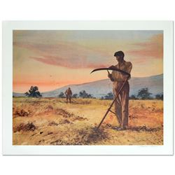 "William Nelson, ""The Harvesters"" Limited Edition Serigraph, Numbered and Hand Signed by the Artist."