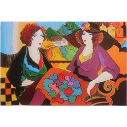 "Patricia Govezensky- Original Serigraph on Canvas ""Villa Saint Tropez"""