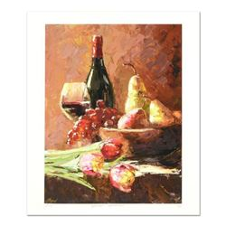 """Elena Bond, """"Afternoon Refreshment"""" Hand Embellished Limited Edition Mixed Media, Numbered and Hand"""