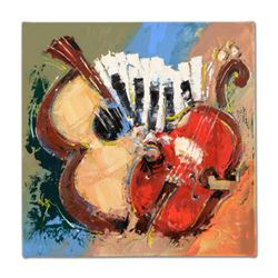 """KAT - """"Celebrate with Music - Katstract"""" Original Acrylic Painting on Gallery Wrapped Canvas, Hand S"""