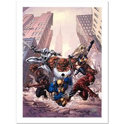 """""""New Avengers #17"""" Limited Edition Giclee on Canvas by Mike Deodato Jr. and Marvel Comics. Numbered"""